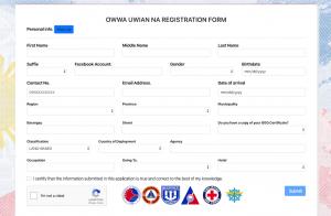 OWWA Uwian Program - OFWs Assistance